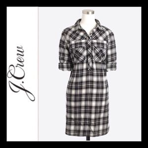 J. Crew Flannel Shirt Dress